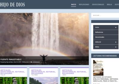 Diseño Web Blog Hijo de Dios