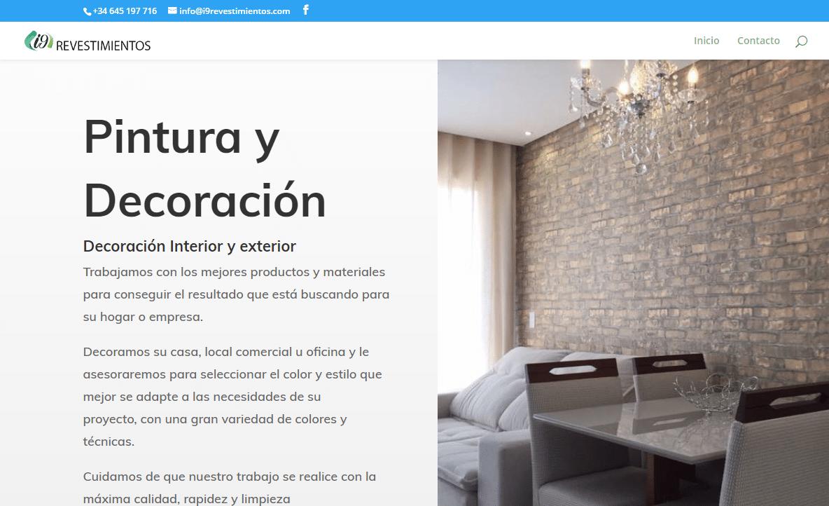 Diseño Web – i9 Revestimientos