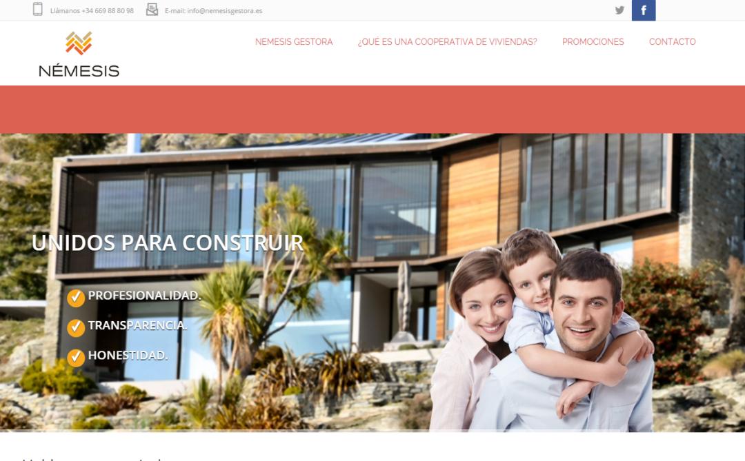 Diseño Web Cooperativa de Viviendas Némesis Gestora