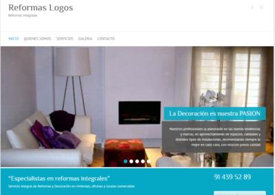 Diseño WEB Empresa Reformas Logos