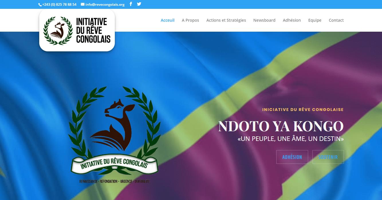 Diseño Web Corporativo Iniciative du Rêve Congolaise