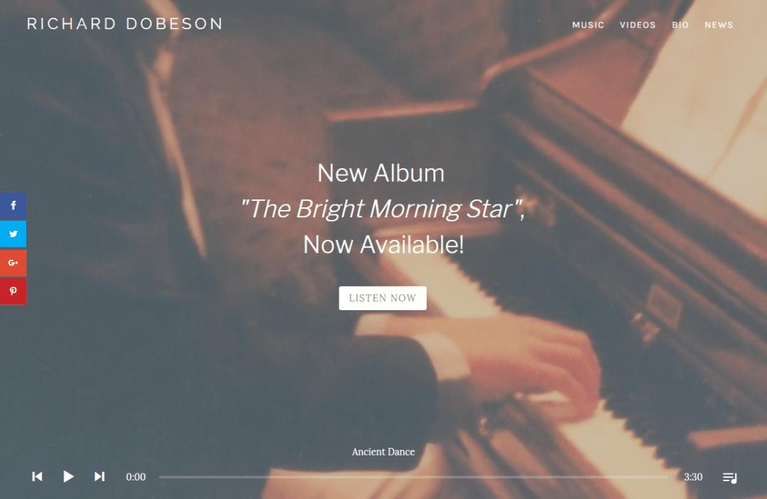 Diseño Web Música Richard Dobeson