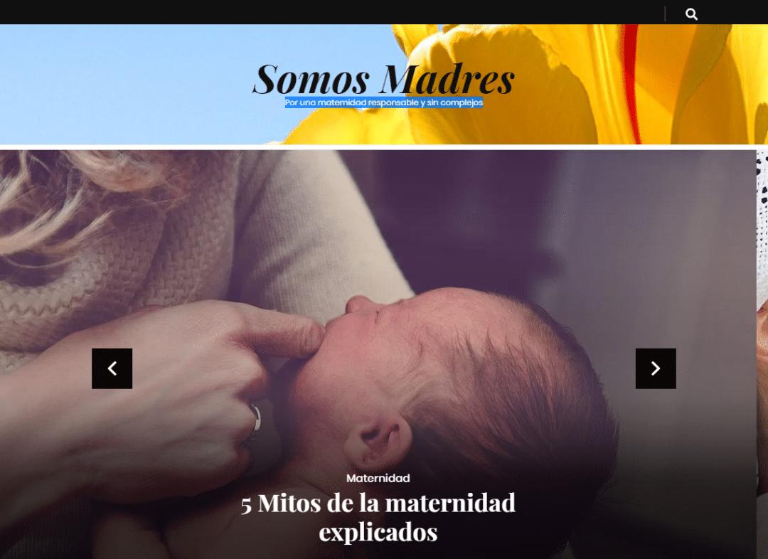 Diseño Web Blog Somos Madres
