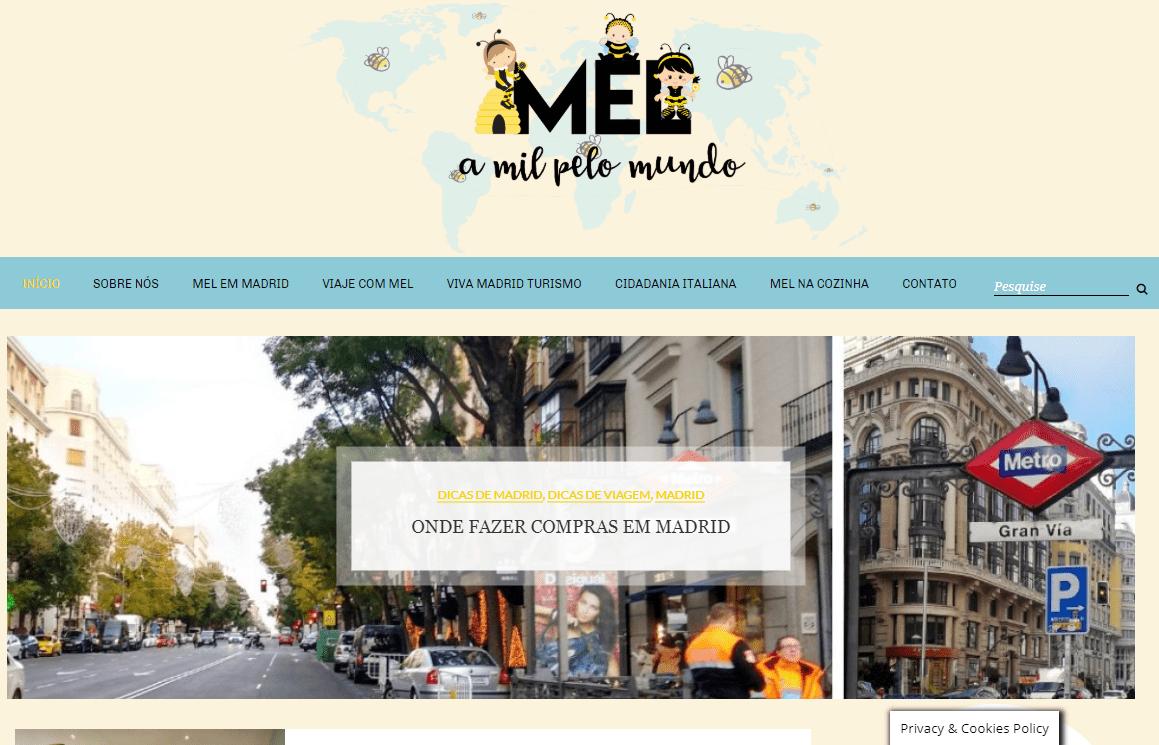 Diseño Web Blog Mel a Mil Pelo Mundo