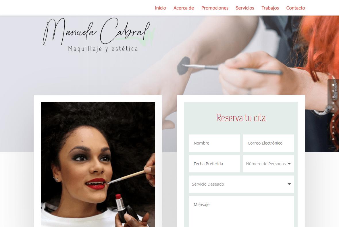 Diseño de Página Web – Manuela Cabral